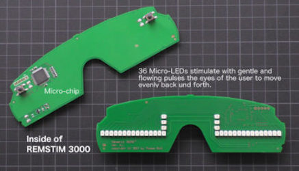 Occhiali EMDR REMSTIM 3000 circuito stampato
